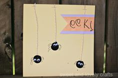 fingerprint spiders - sweet and lovely crafts