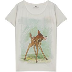 PAUL & JOE SISTER Bambi Print Ss T Shirt (565 VEF) ❤ liked on Polyvore featuring tops, t-shirts, shirts, tees, pattern t shirt, scoop neck shirt, pattern tops, shirts & tops and print top