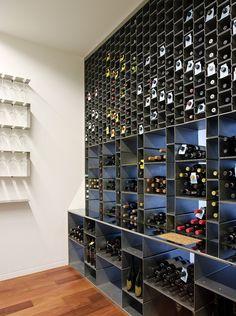 Northwest Peach Farm by Bates Masi Architects Glass rack and wine rack