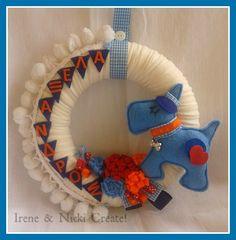 Felt Wreath, Hanukkah, Wreaths, Pillows, Irene, Crafts, Design, Home Decor, Manualidades