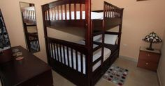 Great double-bed bunk beds for the Casita