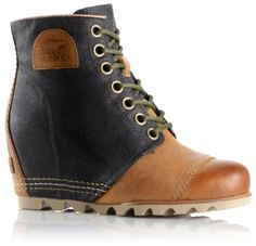 The 1964 Premium Wedge Boot. It's the perfect combination of premium full-grain leather and coated canvas. With leather up the back and a rounded toe, the 1964 waterproof wedge with a heel cup and arch support was made for all the free spirits with all-day energy. See all five colors on www.SOREL.com
