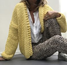 PureMe is a fashionlabel Premium handmade knitwear Designed by me, made for you. Sweater Knitting Patterns, Knitting Designs, Mohair Sweater, Knit Cardigan, Cotton Cardigan, Crochet Shirt, Knit Crochet, Big Knits, Yellow Cardigan