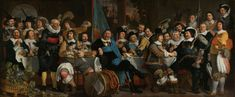 https://flic.kr/p/ZAfUyo | Bartholomeus van der Hels - Banquet at the Crossbowmen's Guild in Celebration of the Treaty of Münster [1648] | [Rijksmuseum, Amsterdam - Oil on canvas, 232 x 547 cm]