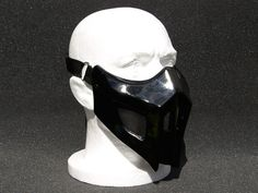 Mortal Kombat Noob Saibot v3 BLK Airsoft Cosplay mask -Made to order-