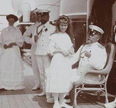 Grand Duchess Anastasia with Captain Sablin aboard the Imperial yacht Standart
