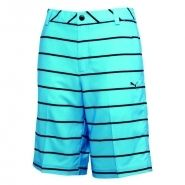 Puma New Wave Stripe Golf Shorts Blue Atoll
