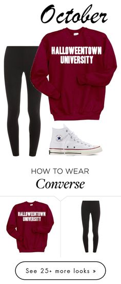 """Octobré"" by ab-h on Polyvore featuring Splendid, Disney and Converse"