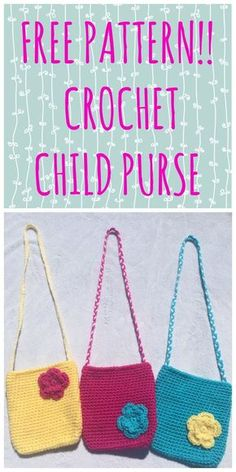 The perfect FREE crochet pattern for these cute little purses!