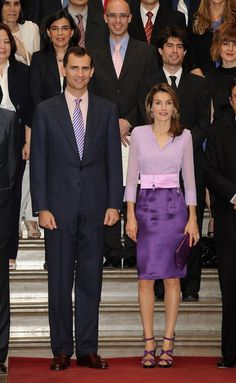 Princess Letizia - shades of purple