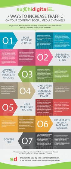 7 maneras de llevar más tráfico a tus canales sociales #infografía vía @Manuel Moreno