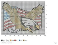 Eagle and American Flag wall hanging plastic canvas Plastic Canvas Ornaments, Plastic Canvas Christmas, Plastic Canvas Crafts, Plastic Canvas Patterns, Blue Canvas, Wall Canvas, Needlepoint Patterns, Cross Stitch Patterns, Canvas Designs