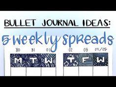 bullet journal ideas || five weekly spreads - YouTube