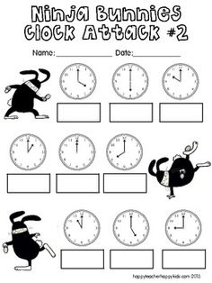 Ninja Bunnies Clock Attack! FREE