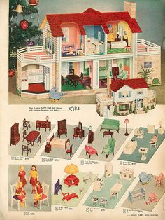 107 Best Dollhouse Images Images Dollhouses Doll Houses Retro Toys