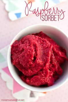 Raspberry Sorbet Recipe - Cooking for a Cure