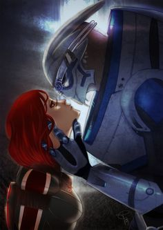 Some Shakarian love before the last battle. I hope that Garrus armor is good, I have serious problems with armors ç__ç (I like them so much, I have to do some practice asdfghjkl) Unfortunately this...