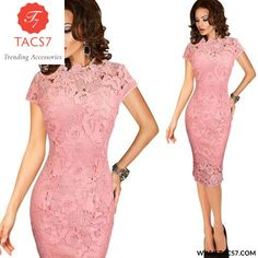Crochet Hollow Out Pinup Party Evening Special Occasion Sheath Fitted Dress