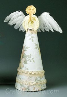 Vintage, Paper Angel Craft for Christmas.
