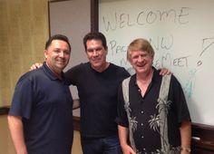 Host Don Morin with Tony Anselmo & Bill Farmer