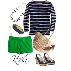 Navy and green nautical by stacy-klein, via Polyvore