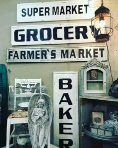 More signs in the shop from dealer #35. #fourthstreetantiques #antiquestore #vintagestore #antiques #vintage #temecula #temeculaantiques #murrieta #sandiegovintage #temeculavintage #furniture #antiqueshopping #antiquing #temeculawinecountry #shabbychic #furniture #shoppingintemecula #french #cottagechic #vintageweddings #decorating #vintagestyle #farmstyletemecula #farmhousestyle #vintageinspiration #temeculaweddings #temeculadecor #fleamarketfinds #homedecor #signs