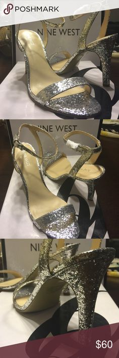 Nine West Silver glitter heels These heels scream Shine bright like a diamond!!! Put it with your favorite dress or your favorite jeans... no matter what you put it would these shoes are hot!!! They are brand new in the box! MAKE AN OFFER Nine West Shoes Heels