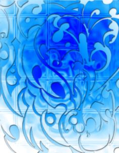 blue heart floral design picture and wallpaper