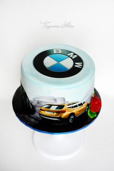 birthday cake for a big fan of this car brand Cakes For Men, Just Cakes, Bmw Cake, Audi Cars, Food Art, Delicious Desserts, Birthday Cake, Events, Kids