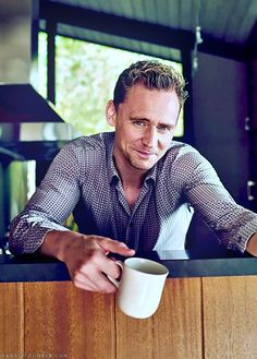 Tom Hiddleston The morning after .Coffee Tea or HIM!