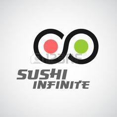 sushi: Sushi logo template. Infinity sign. Illustration