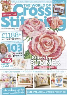 The World of Cross Stitching Issue 230 patterns pinned