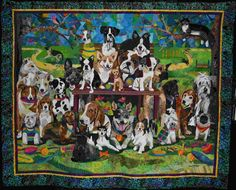 Dog Quilt by Nancy Brown.. I took a great week long applique class from her.