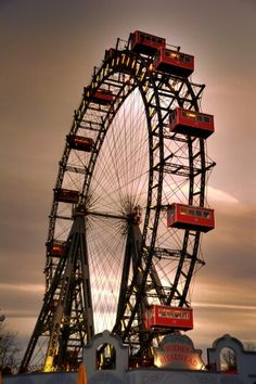 Prater - I loved riding on this very large ferris wheel!