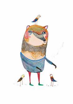 Fox & birds
