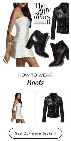 """Bandage Dress x Statement Boots"" by sasikewl on Polyvore featuring Chicnova Fashion, Pierre Hardy, whitedress, bandagedress and StatementBoots"