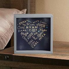 Personalized LED Light Shadow Box - Close To Her Heart - Christmas Xmas Gifts, Cute Gifts, Craft Gifts, Diy Gifts, Unique Gifts, Great Mothers Day Gifts, Mother Day Gifts, Gifts For Mom, Fun Crafts