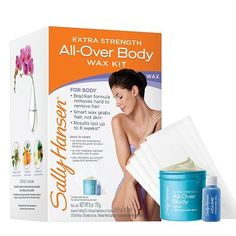 Sally Hansen Extra Strength All-Over Body Wax Hair Removal Kit - 1 ea