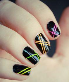Nice 20 Simple Black Nail Art Design Ideas http://www.designsnext.com/?p=31970