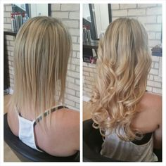 Before & After - Fusion Hair Extensions