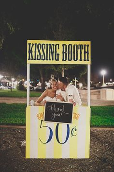 #wedding kissing booth!