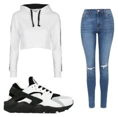 """Untitled #21"" by victoriaperez901 on Polyvore featuring NIKE and Topshop"