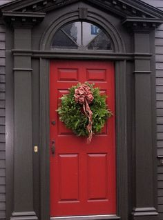 Red doors are the most popular color choices other than neutral colors. Gray trim is becoming all the rage.