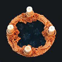 adventní věnec Salt Dough, Bling, Ceramics, Crafts, Accessories, Ceramica, Ceramic Art, Creative Crafts, Handmade Crafts