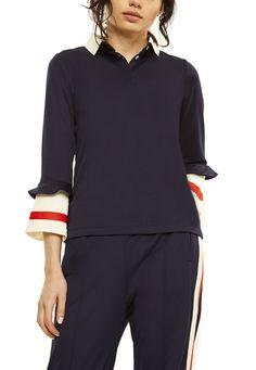 Ganni Noaki Polo blouse Polo, Athletic, Elegant, Blouse, Jackets, Fashion, Velvet, Classy, Down Jackets