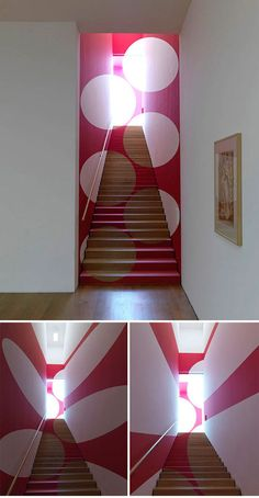 O - white wall  Anamorphic Geometric Installations by Felice Varini | Man Made DIY | Crafts for Men | Keywords: varini, installation, art, geometry