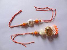 Auspicious Occasion Brother Sister Raksha Bandhan Love Pearl Stone Design Rakhi #IndianBrand #Friendship