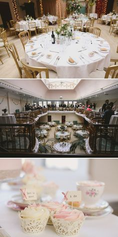 An Elegant Vintage Inspired Wedding at The Winter Gardens, Ilkley Bride in tea-length gown, dusky pink Bridesmaids Dusky Pink Bridesmaids, Garden Wedding, Our Wedding, Vintage Table Decorations, Cupcake Flags, Winter Garden, Wedding Inspiration, Wedding Ideas, Real Weddings