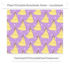 Free Landscape Wisteria Star Large Belle Pattern Paper - Beauty and the Beast