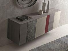 Aparador modular suspendido con puertas Colección InclinART by Presotto Industrie Mobili   diseño Pierangelo Sciuto
